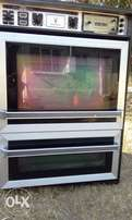 Electrical glas hob stove and eye level oven