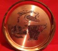 copper tray with in prints