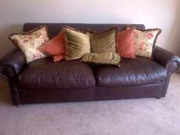 Beautiful 3 seater Kudu Leather couch for sale - R9 000 negotiable