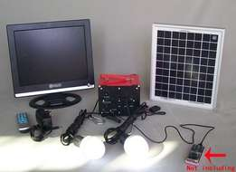 Solar system With TV flat screen