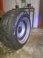 16inch steelies widened to10inch with tyres