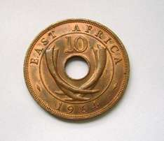 2 East Africa 10 Cents 1956, Ruler: Elizabeth II