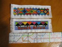 Uniquely Handmade South African cross stitched bookmarks