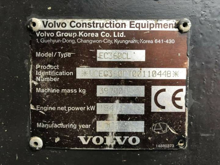 Volvo EC360 CL **BJ2008 *16520H** - 2008 - image 27