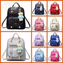 Ladies Satchel Backpack with Bunny Holder