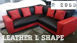 Leather L-Shape, lounge sets *Massive Sale*