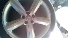 18 inches Audi spare rim with Tyre for sell