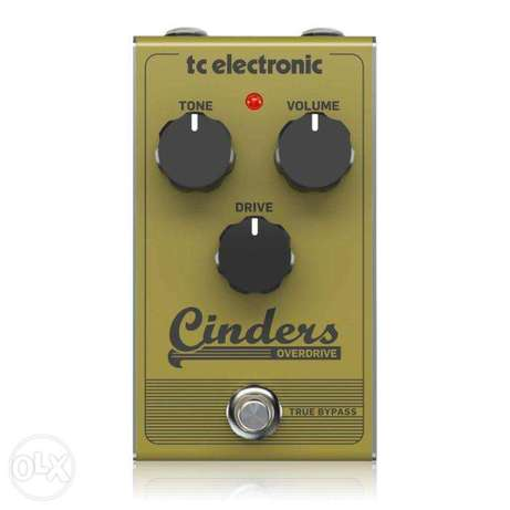 TC Electronic CINDERS OVERDRIVE Tube-Like Overdrive Pedal