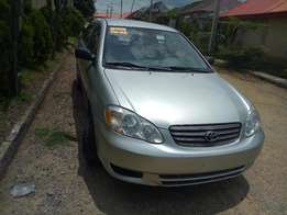 2004 Tokunbo Toyota Corolla LE Newly Arrived.