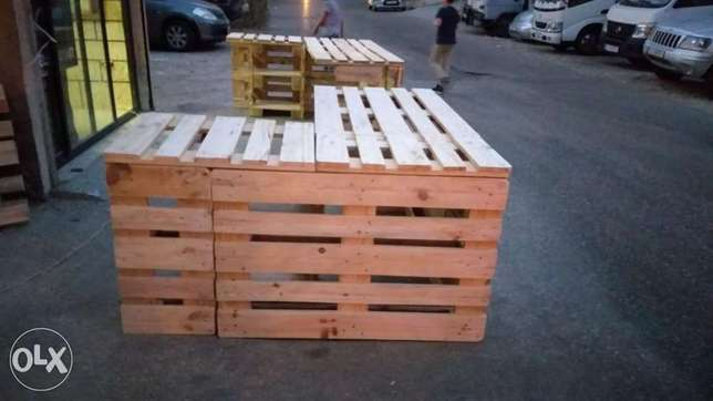 مكتب طباليwhood pallets dress and comod