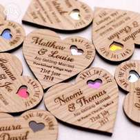 Wooden giveaways