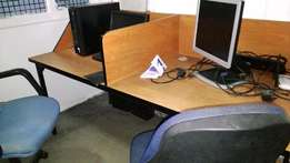 Office Workstation for 2 -Sturdy Construction
