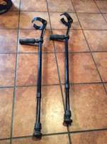 set of black Crutches