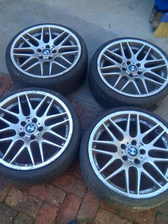 Size 19 bmw original mags with original tyres stil good Bramley - image 1