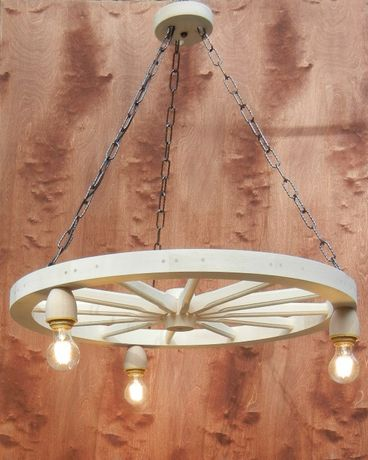 żyrandol Lampa Do Altany Karczmy Salonu Koło Drewniane
