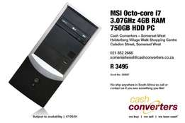 MSI Octo-core i7 3.07GHz 4GB RAM 750GB HDD PC