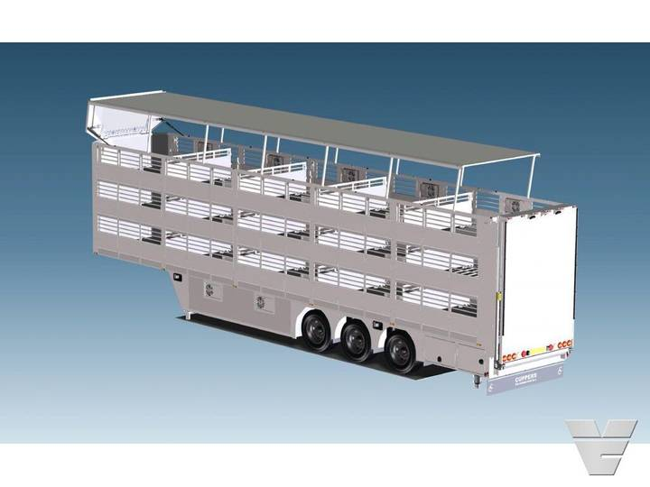 Cuppers 3OZ4: NEW CONCEPT!! 2/3-DECK TRAILER WITH 9M2 ANIMAL BOX - 2019