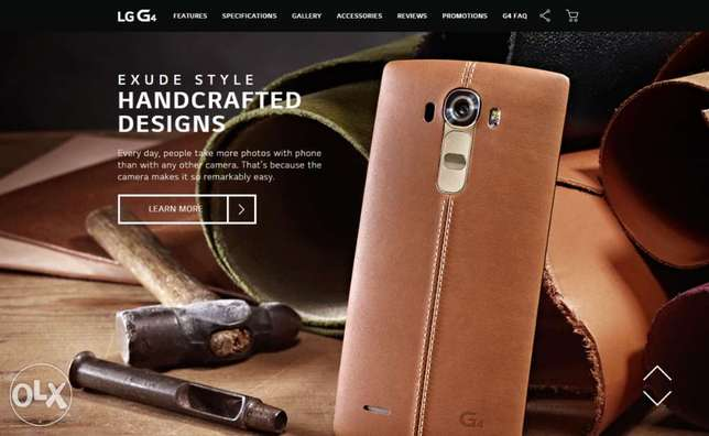 LG G4 Leather Back Cover - Brown Kasarani - image 3