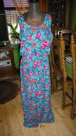 Długie nowe sukienki w kwiaty roz.36 do 42 ,,chłodne
