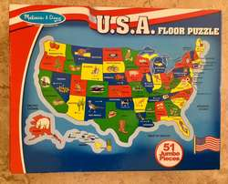Melissa & Doug USA Giant Floor Puzzle