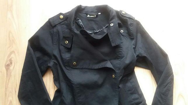 RAINBOW czarna cienka kurtka katana ramoneska damska M