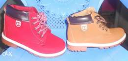 Red& brown boots