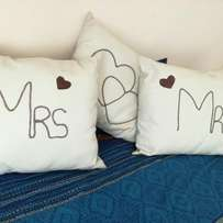 Personalized leather cushions