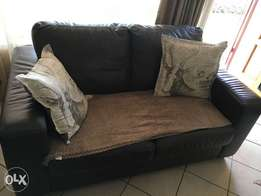 2 Seater Alpine Geniune Leather Brown Sofa