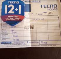 Its a Tecno C8. Its 2 weeks from tecno Shop with a full warranty