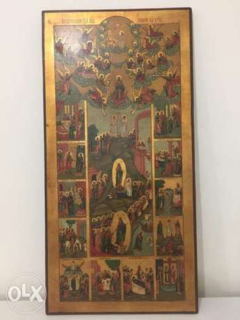 rare museum quality 19th century church icon
