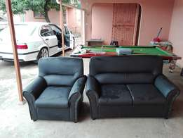 6seater Leather lounge suite - New Gomma gomma
