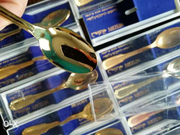 Limited edition Gold plated vintage spoons
