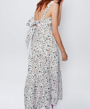 ZARA ML NOWA z metką piękna długa sukienkasuknia biel