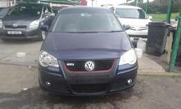 Vw polo 1.6 blue in color 2008 model hatshback 83000km R85000