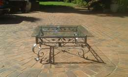 Coffee Table - cast iron with Glass