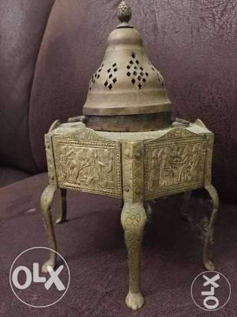 مبخرة تراثية نحاس قديم Old brass incense burner heritage أشرفية -  4