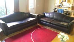 Leather Oxblood Upmarket Designer Lounge Suite!! Perfect Condition!!