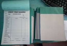 Printing of Receipt books, calenders, Banners, Posters, Stickers