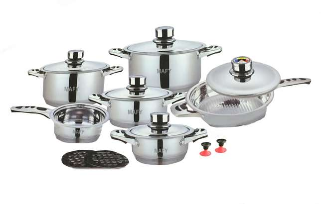 21-PCS Mafy Swiss Pot Set R1 499 Including Delivery (Up to 50%OFF) Johannesburg CBD - image 6