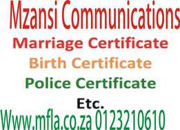 Professional translation services birth certificate