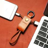 Remax leather usb/sync cable/keychain for iphone 5/6/7