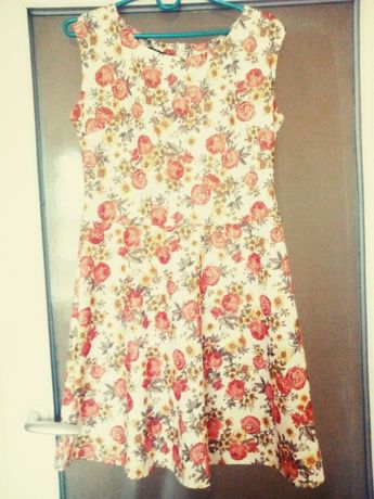 Sukienka w kwiaty r. ML 3840 j.zara,orsay,H&M Lubartów