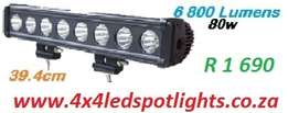 80w Led Bar Black Cover