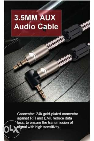 HIFI 3.5mm to 3.5mm Earphone Connecting Wire AUX Audio Cable Male