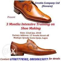 Intensive Training On Shoe Making