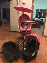 Limited Edition Pink Stokke Explory Travel System