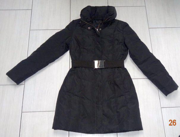 Jak NOWA czarna puchowa kurtka zimowa płaszczyk ZARA 36 S