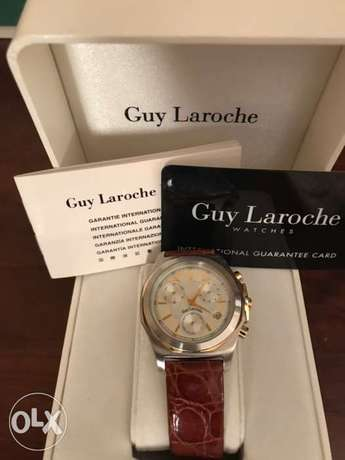 Guy Laroche chronograph watch light use