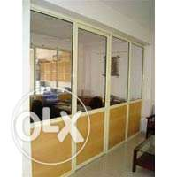 aluminum office partitioning