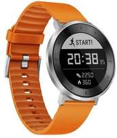 Huawei Fit Orange Wristband with Silver Watch Plate.